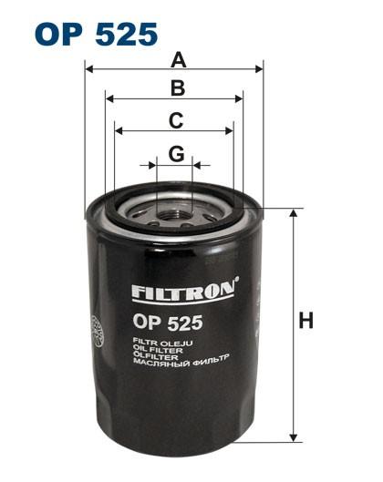 Filtr oleju OP 525 [OP525] FILTRON