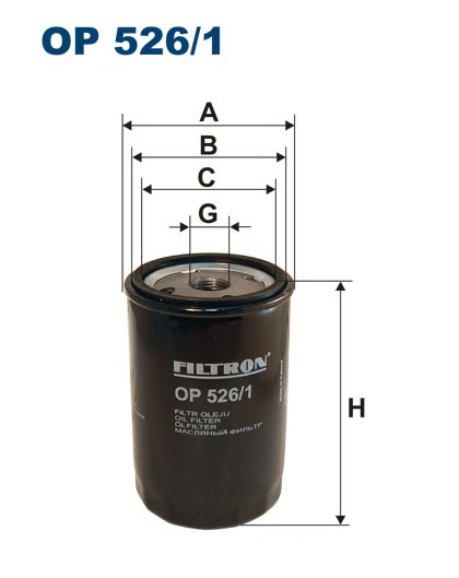 Filtr oleju OP 526/1 [OP5261] FILTRON