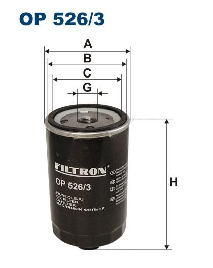 Filtr oleju OP 526/3 [OP5263] FILTRON