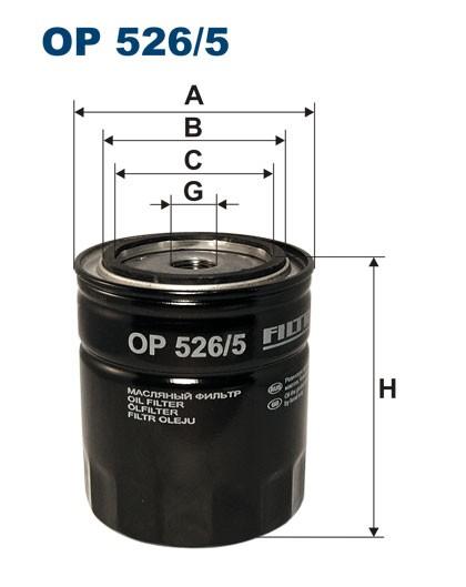 Filtr oleju OP 526/5 [OP5265] FILTRON