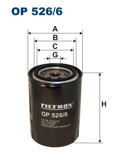 Filtr oleju OP 526/6 [OP5266] FILTRON