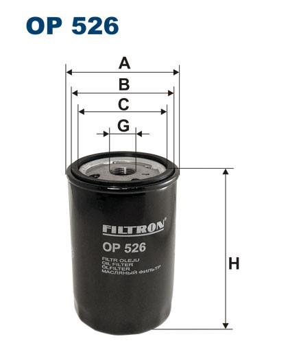 Filtr oleju OP 526 FILTRON [OP526]