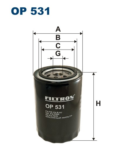 Filtr oleju OP 531 [OP531] FILTRON