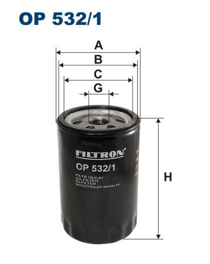 Filtr oleju OP 532/1 [OP5321] FILTRON