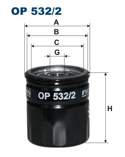 Filtr oleju OP 532/2 [OP5322] FILTRON