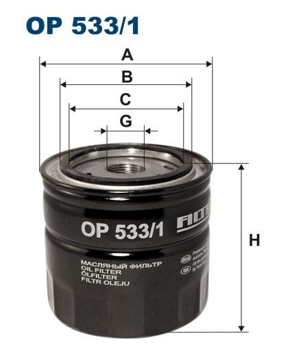 Filtr oleju OP 533/1 [OP5331] FILTRON