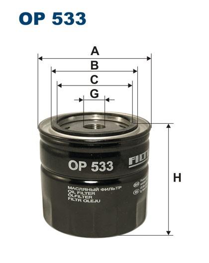 Filtr oleju OP 533 [OP533] FILTRON