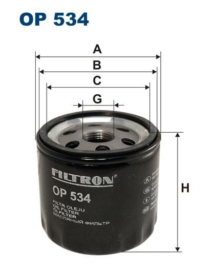 Filtr oleju OP 534 [OP534] FILTRON
