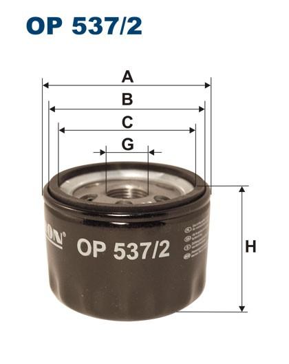 Filtr oleju OP 537/2 [OP5372] FILTRON