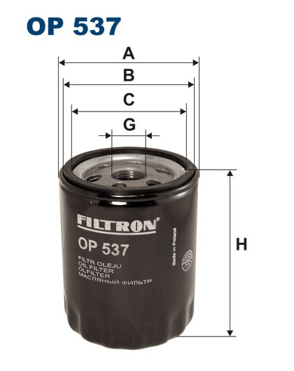 Filtr oleju OP 537 [OP537] FILTRON