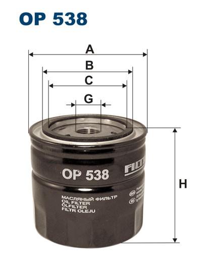 Filtr oleju OP 538 [OP538] FILTRON