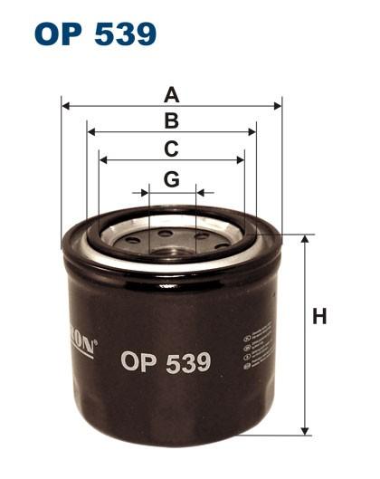 Filtr oleju OP 539 [OP539] FILTRON
