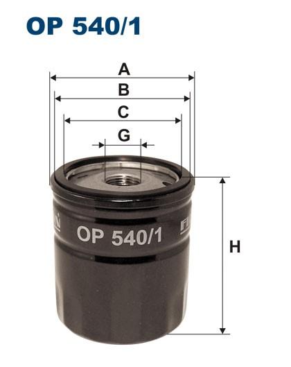 Filtr oleju OP 540/1 [OP5401] FILTRON