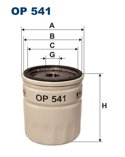 Filtr oleju OP 541 [OP541] FILTRON