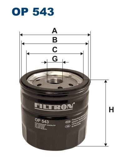 Filtr oleju OP 543 [OP543] FILTRON