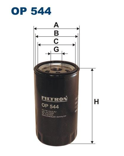 Filtr oleju OP 544 [OP544] FILTRON