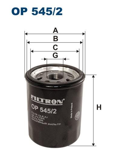Filtr oleju OP 545/2 [OP5452] FILTRON