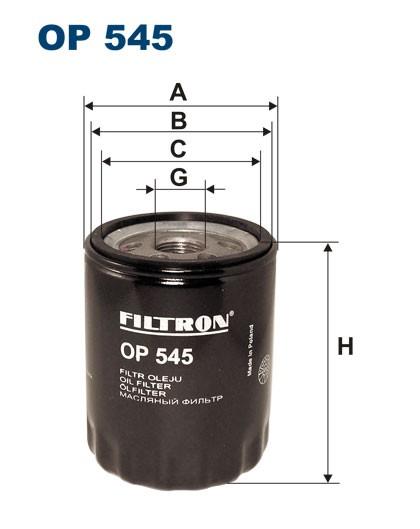 Filtr oleju OP 545 [OP545] FILTRON