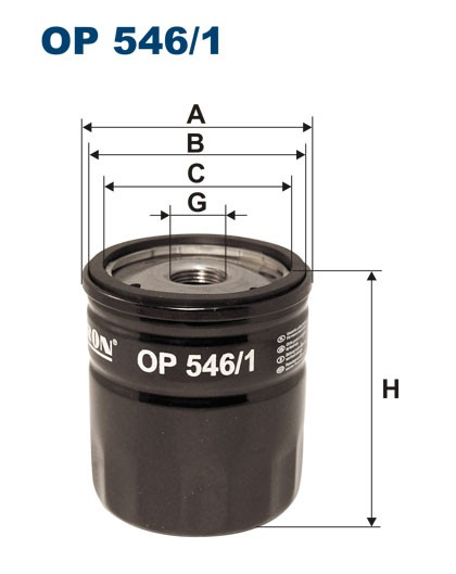 Filtr oleju OP 546/1 [OP5461] FILTRON