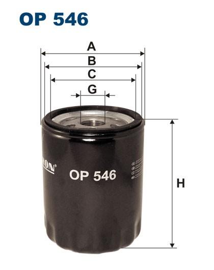 Filtr oleju OP 546 [OP546] FILTRON