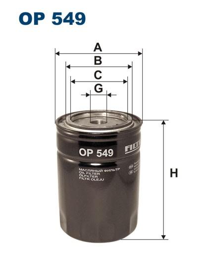 Filtr oleju OP 549 [OP549] FILTRON