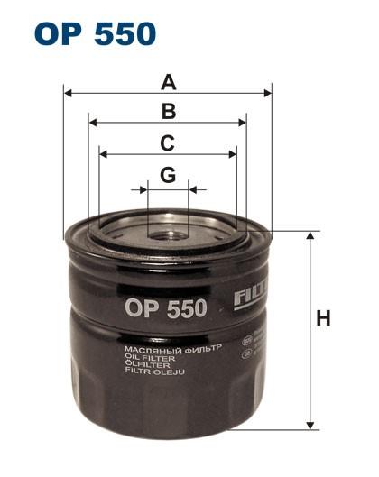 Filtr oleju OP 550 FILTRON [OP550]