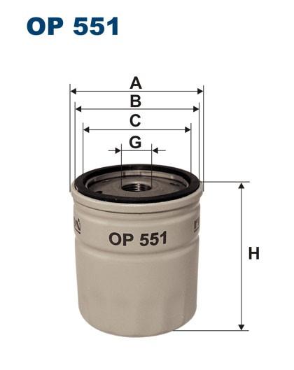 Filtr oleju OP 551 [OP551] FILTRON