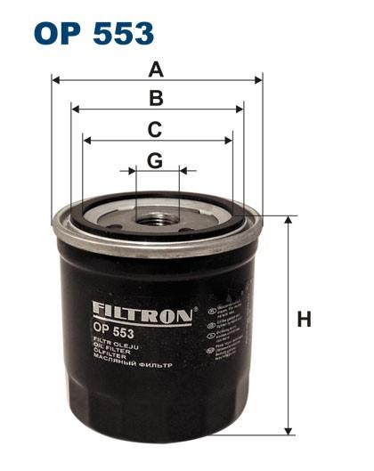 Filtr oleju OP 553 [OP553] FILTRON