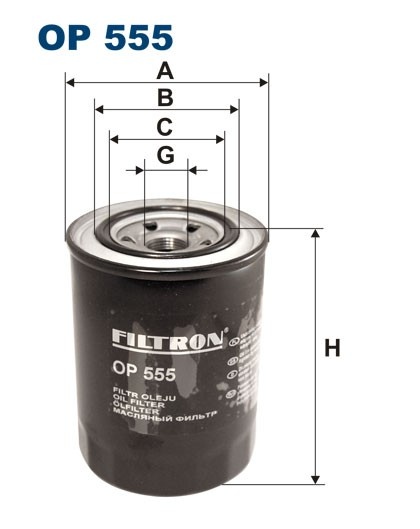 Filtr oleju OP 555 [OP555] FILTRON