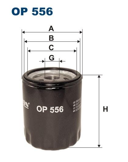 Filtr oleju OP 556 [OP556] FILTRON