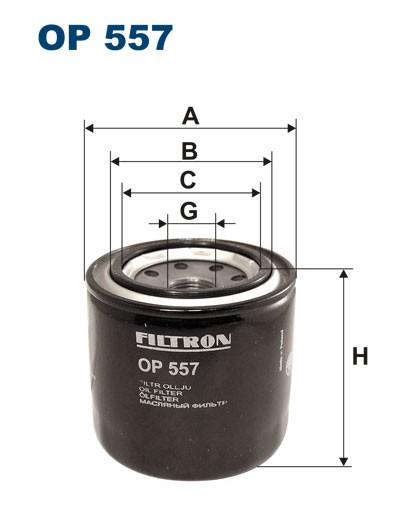 Filtr oleju OP 557 [OP557] FILTRON