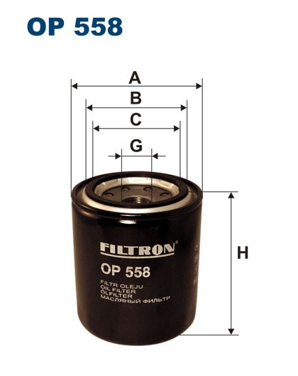 Filtr oleju OP 558 [OP558] FILTRON