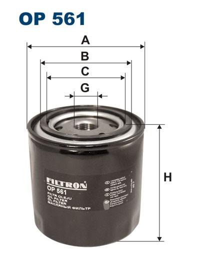 Filtr oleju OP 561 [OP561] FILTRON