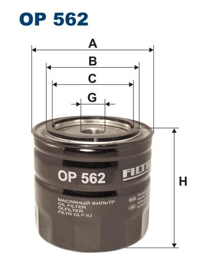 Filtr oleju OP 562 [OP562] FILTRON
