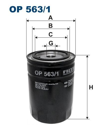 Filtr oleju OP 563/1 [OP5631] FILTRON