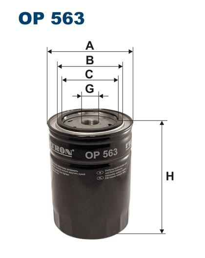 Filtr oleju OP 563 [OP563] FILTRON