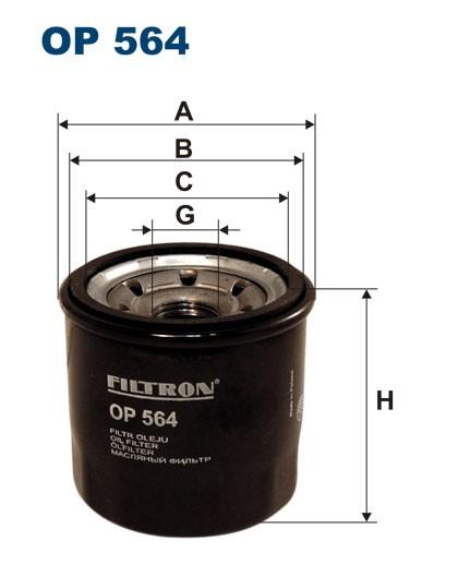 Filtr oleju OP 564 [OP564] FILTRON