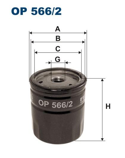 Filtr oleju OP 566/2 [OP5662] FILTRON