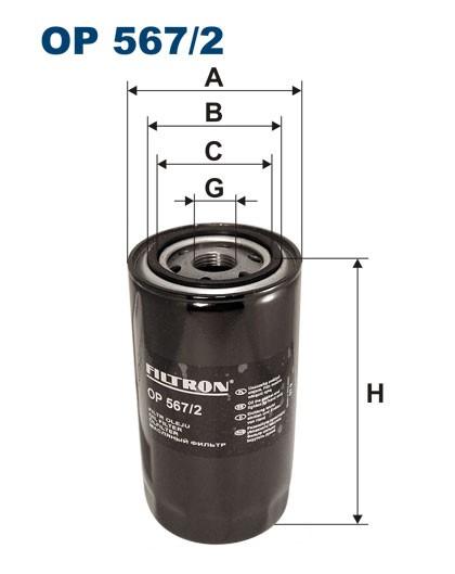 Filtr oleju OP 567/2 [OP5672] FILTRON