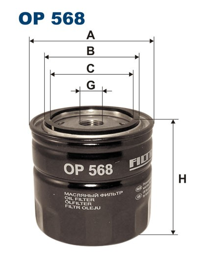 Filtr oleju OP 568 [OP568] FILTRON
