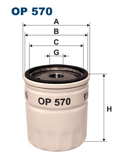 Filtr oleju OP 570 [OP570] FILTRON