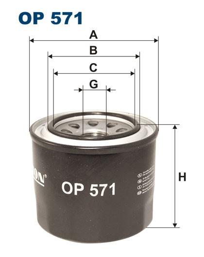 Filtr oleju OP 571 [OP571] FILTRON