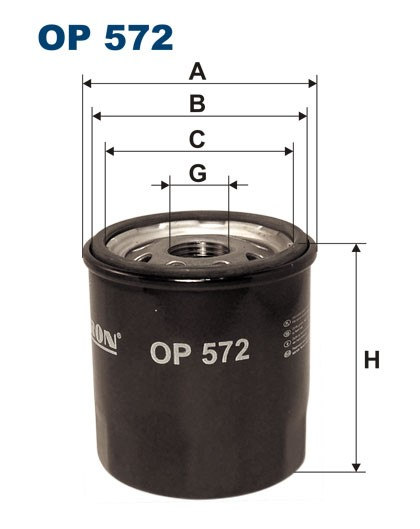 Filtr oleju OP 572 [OP572] FILTRON