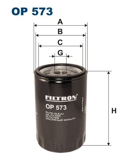 Filtr oleju OP 573 [OP573] FILTRON