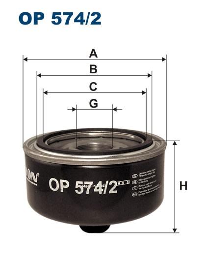 Filtr oleju OP 574/2 [OP5742] FILTRON