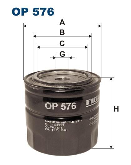 Filtr oleju OP 576 [OP576] FILTRON