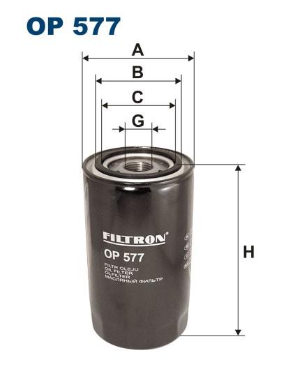 Filtr oleju OP 577 [OP577] FILTRON