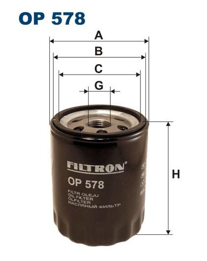 Filtr oleju OP 578 [OP578] FILTRON