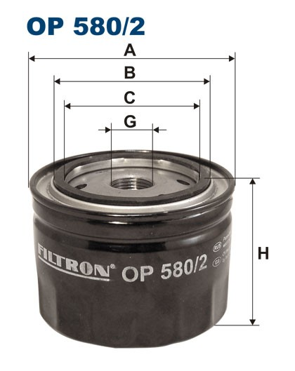 Filtr oleju OP 580/2 [OP5802] FILTRON
