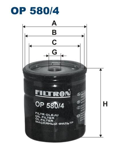 Filtr oleju OP 580/4 [OP5804] FILTRON